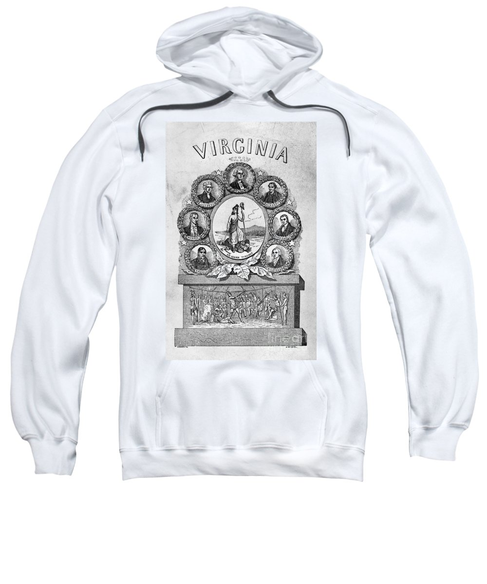 1856 Sweatshirt featuring the photograph Virginia: Motto by Granger