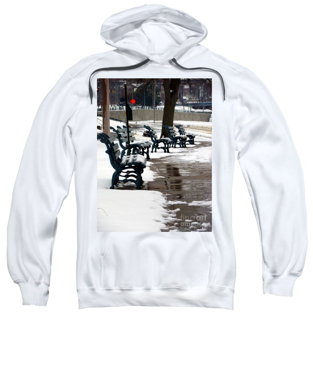 Outside Sweatshirt featuring the photograph Waiting For Clear Skies by Charleen Treasures