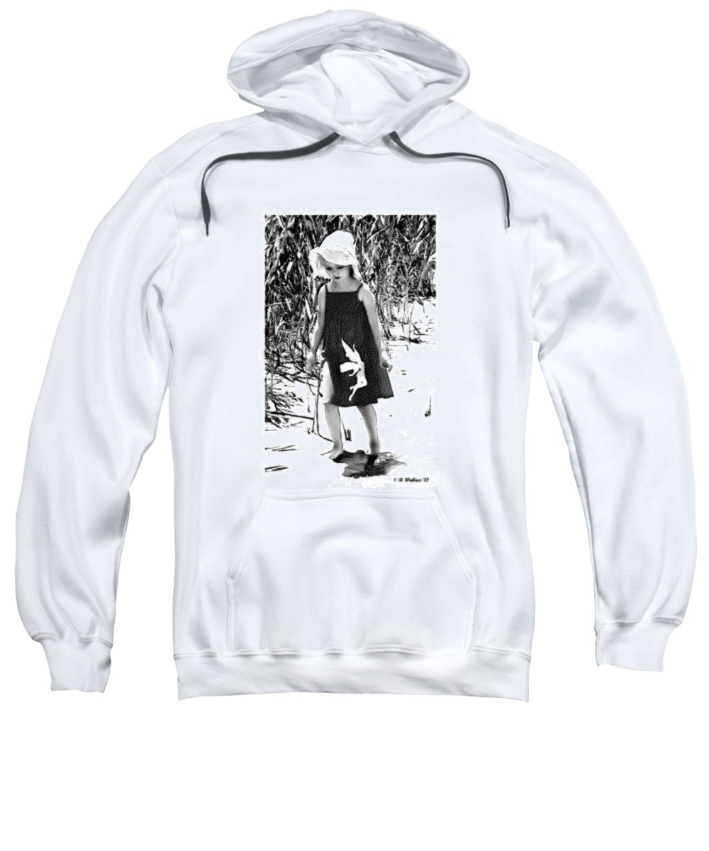 2d Sweatshirt featuring the photograph Walking The Shoreline by Brian Wallace