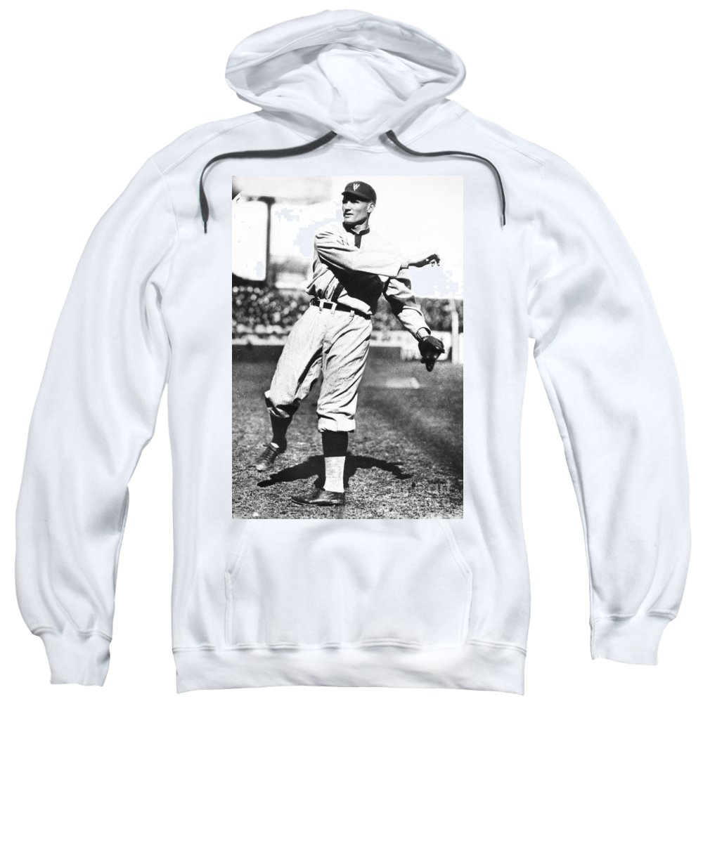 1925 Sweatshirt featuring the photograph Walter Johnson (1887-1946) by Granger