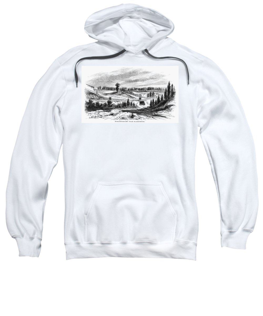 1814 Sweatshirt featuring the photograph War Of 1812: Bladensburg by Granger