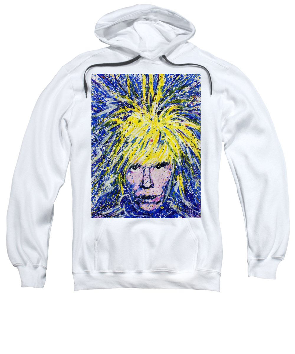 Andy Warhol Sweatshirt featuring the painting Warhol II by Chris Mackie