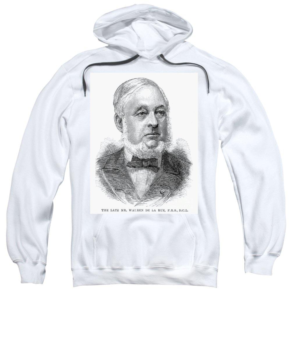 1889 Sweatshirt featuring the photograph Warren De La Rue (1815-1889) by Granger