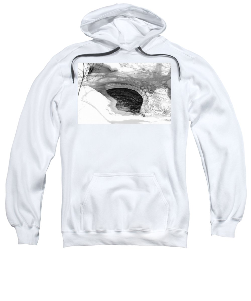 Beautiful Sweatshirt featuring the photograph Water And Ice by Michael Goyberg