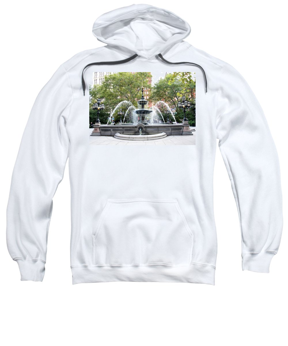 Park Sweatshirt featuring the photograph Water Liberation by Terry Wallace