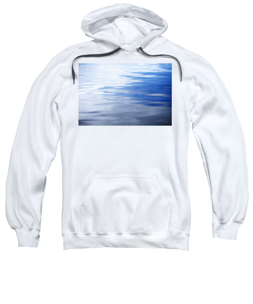 Abstract Sweatshirt featuring the photograph Calm Water by Skip Nall