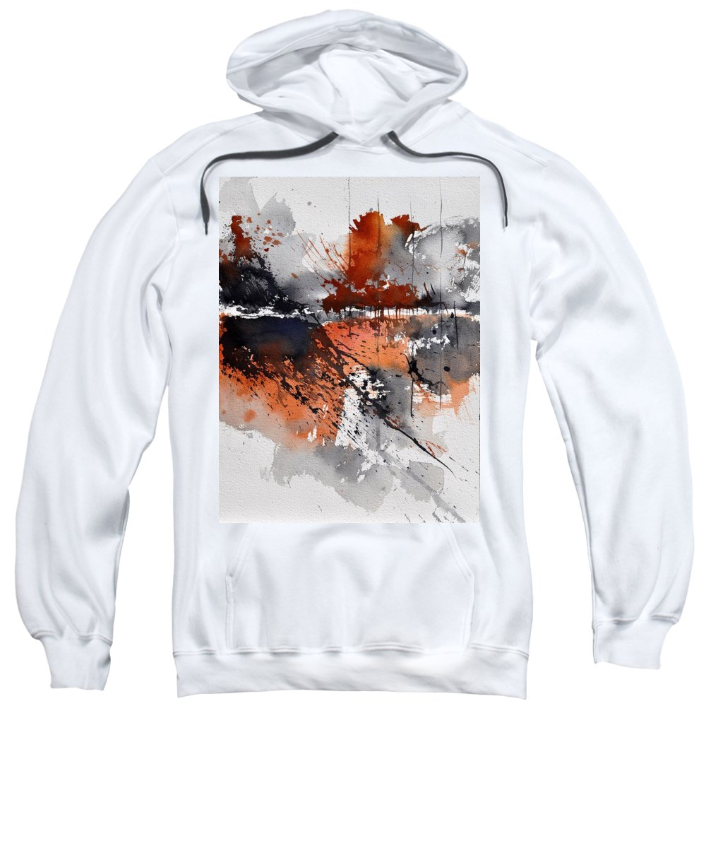 Abstract Sweatshirt featuring the painting Watercolor 217031 by Pol Ledent