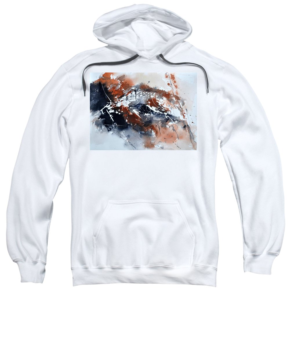 Abstract Sweatshirt featuring the painting Watercolor 217051 by Pol Ledent