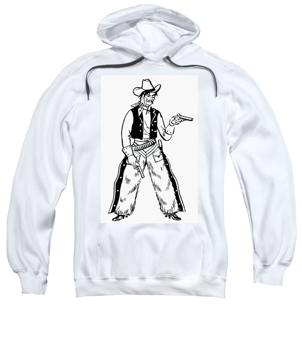 19th Century Sweatshirt featuring the photograph Western Outlaw by Granger