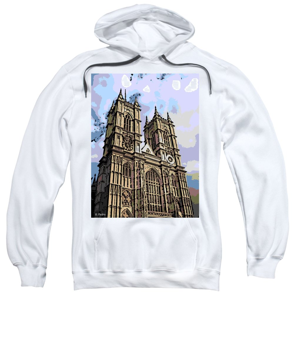 Westminster Sweatshirt featuring the photograph Westminster Abbey by George Pedro