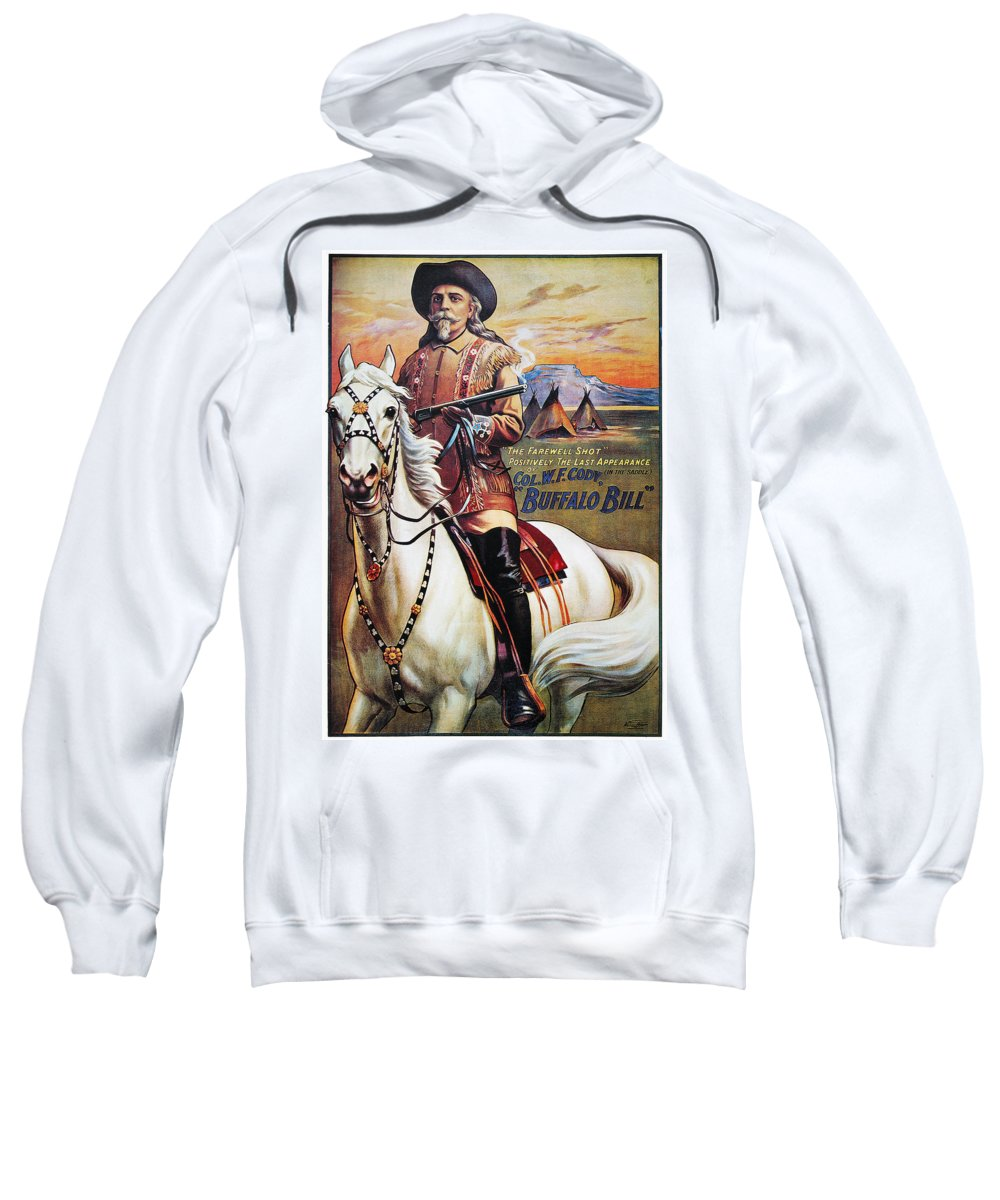 1910 Sweatshirt featuring the photograph W.f. Cody Poster, 1910 by Granger