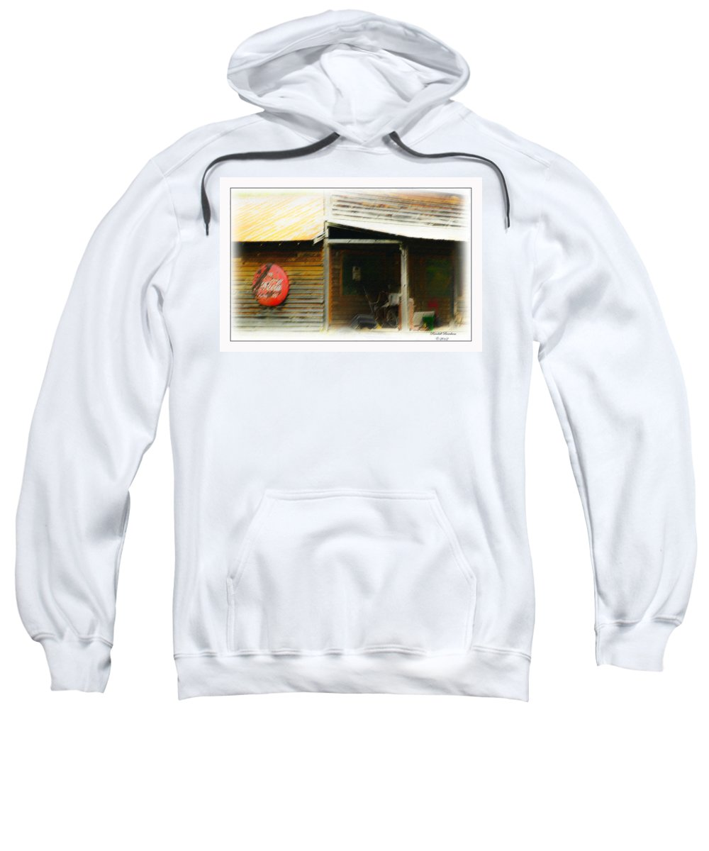 Fifty;s Store Front Sweatshirt featuring the photograph Whats Left Of Fifty's Store Front by Randall Branham
