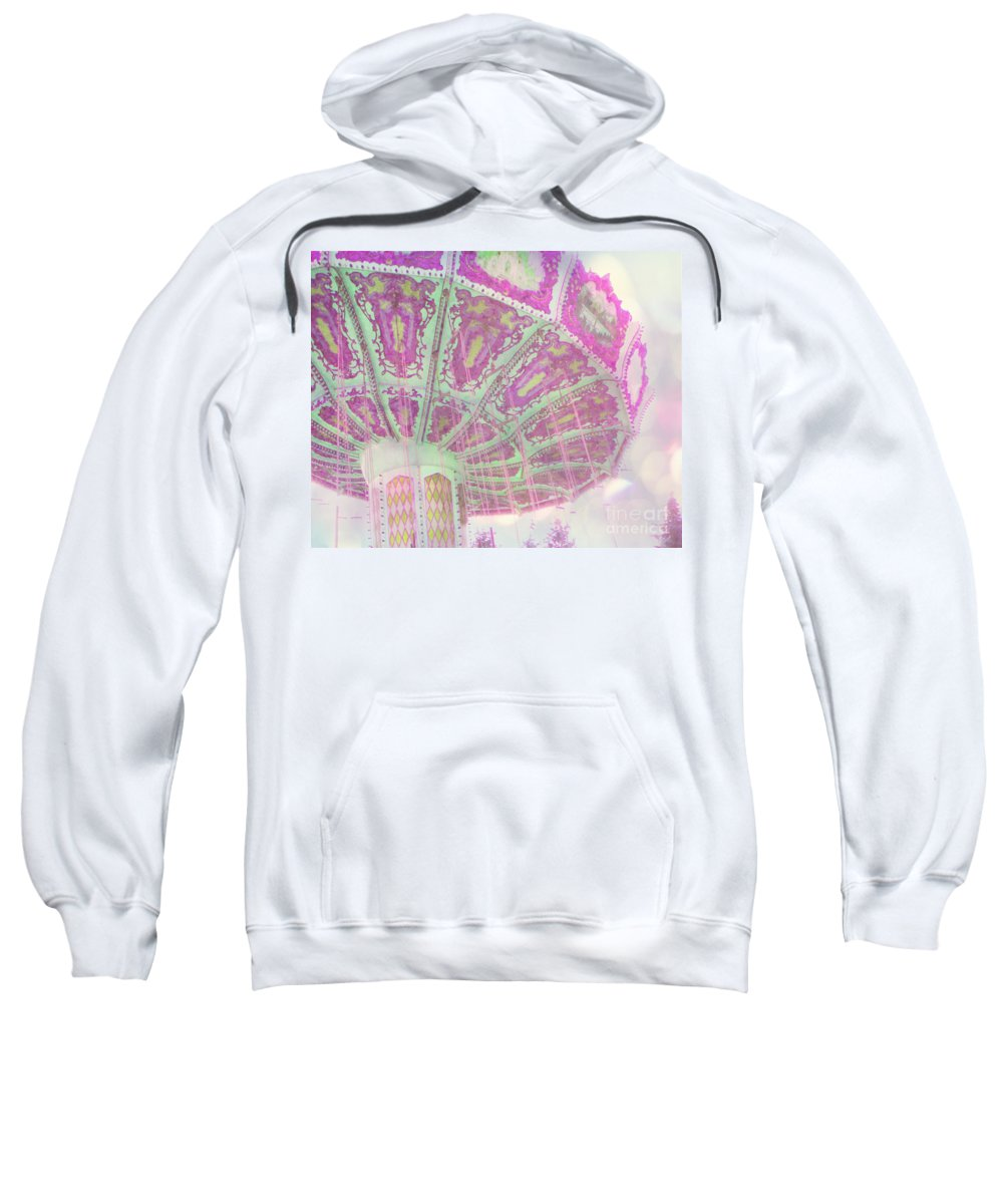 Pink Sweatshirt featuring the photograph Whimsy Swing by Traci Cottingham