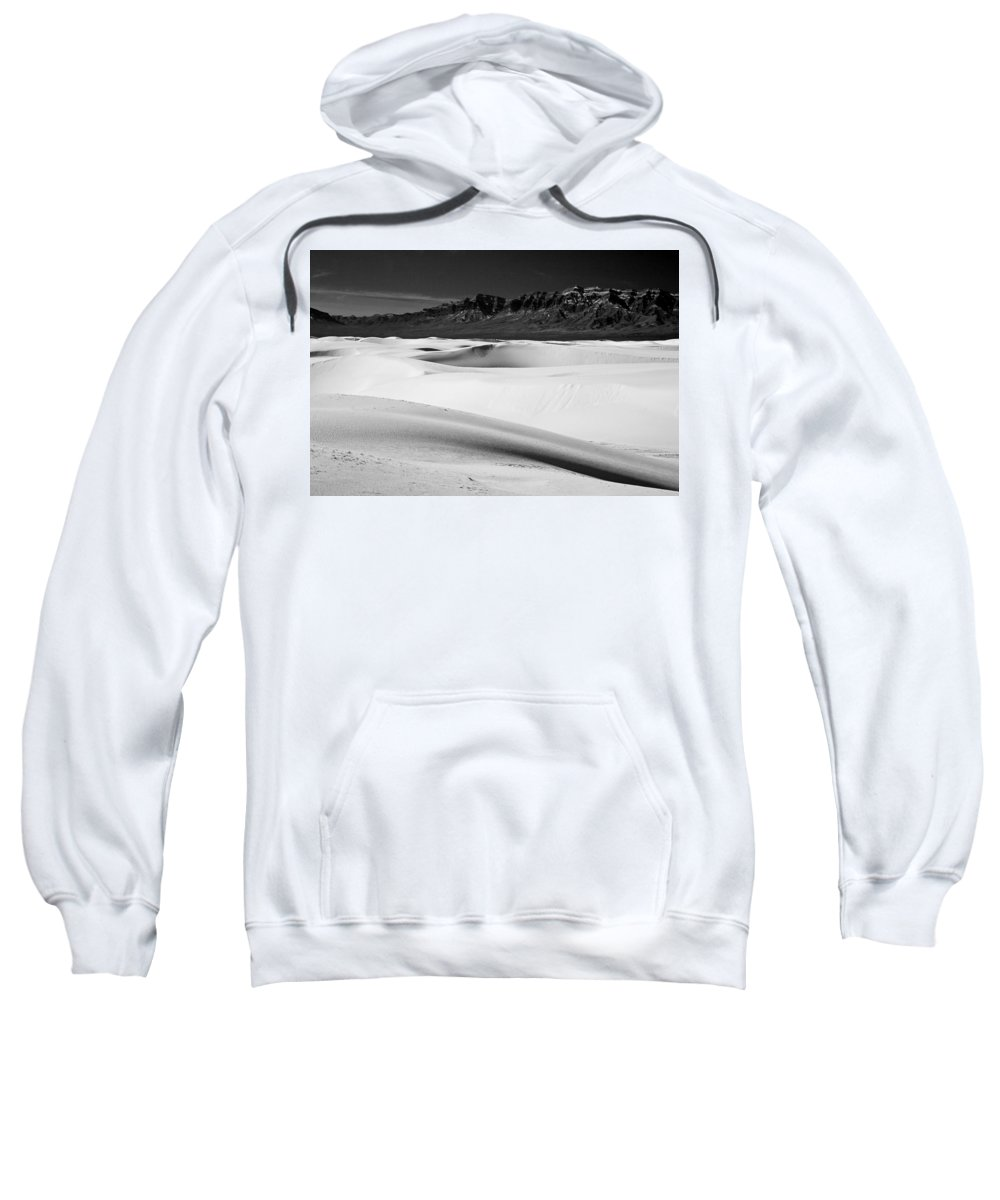 White Sands National Monument Sweatshirt featuring the photograph White In White Sands by Ralf Kaiser