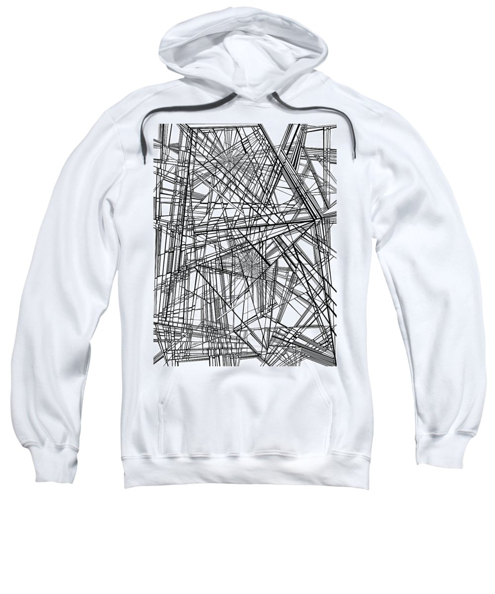 Optical Obsession Sweatshirt featuring the painting Wind-up Birds by Douglas Christian Larsen