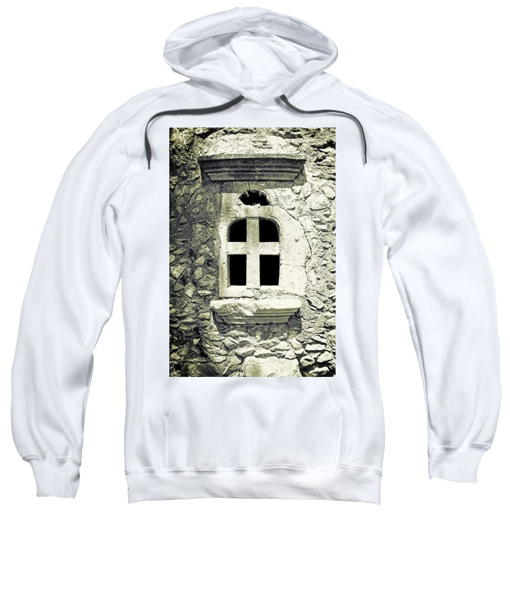 Window Sweatshirt featuring the photograph Window Of Stone by Joana Kruse