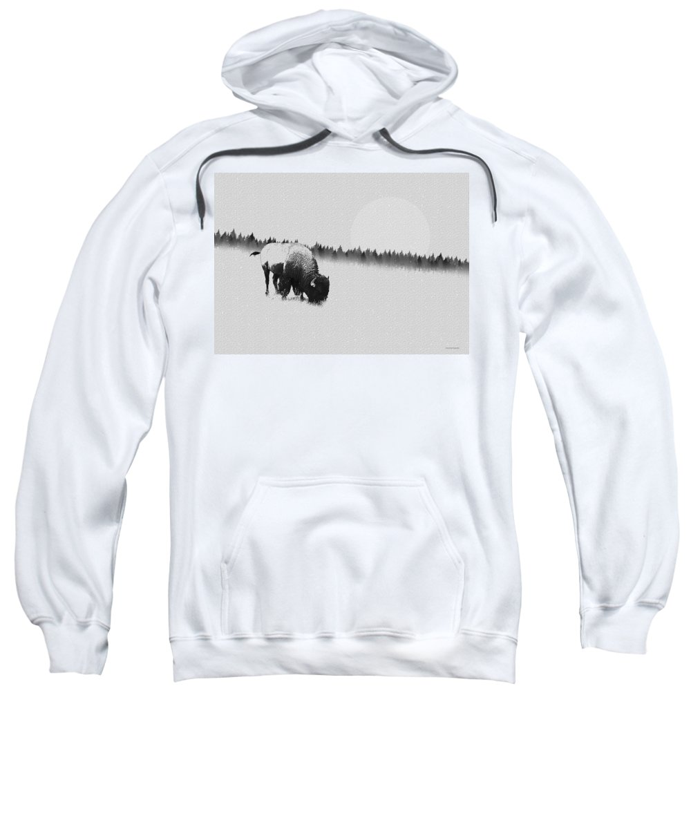 Ron Jones Sweatshirt featuring the photograph Winter Graze by Ron Jones