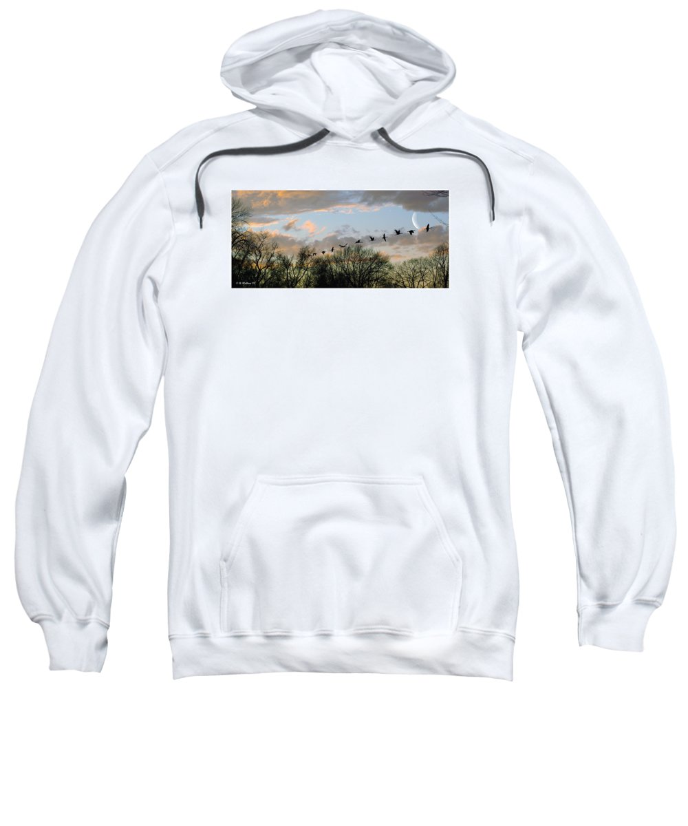 2d Sweatshirt featuring the photograph Winter Sunset Silhouette by Brian Wallace