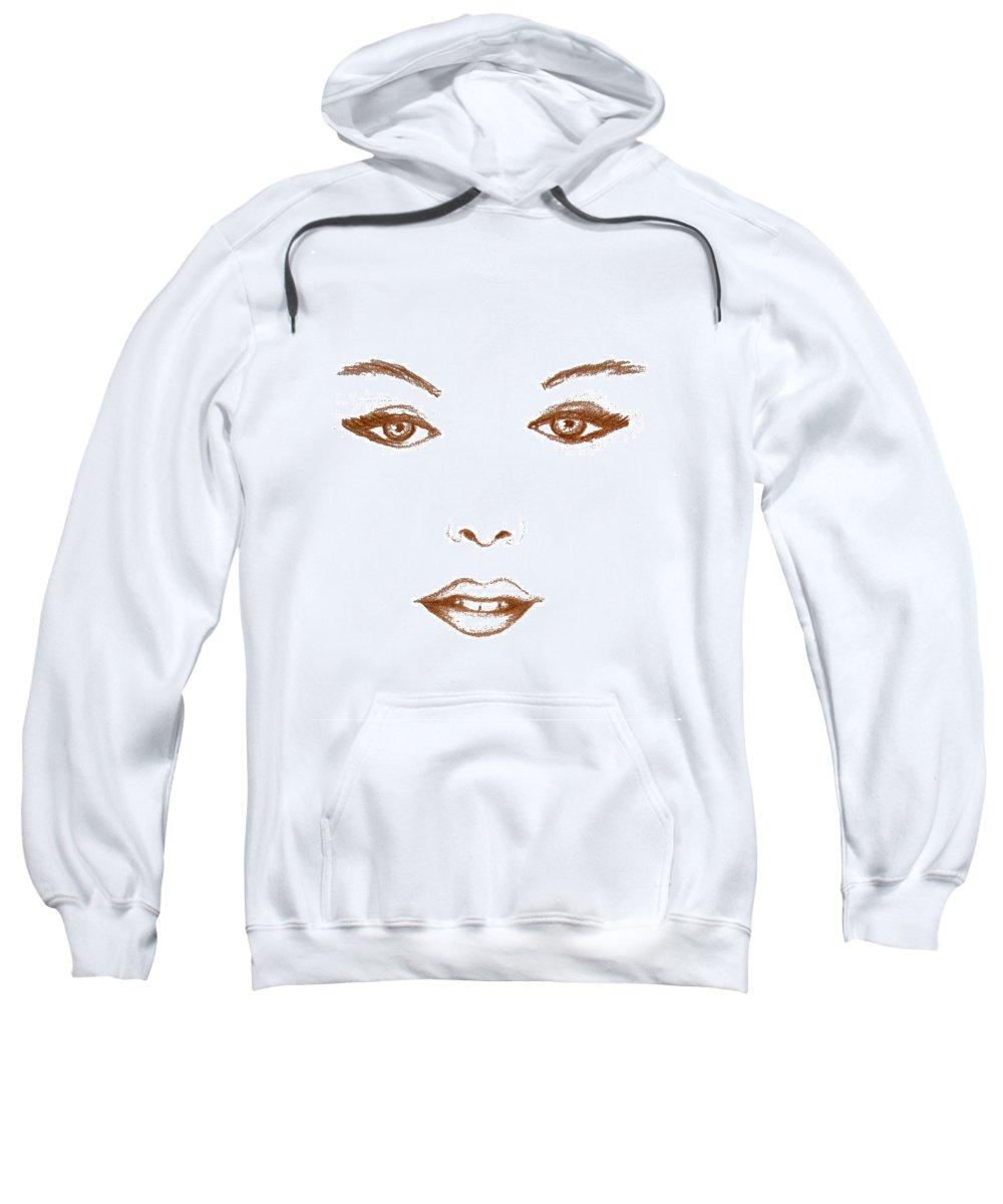Human Face Sweatshirt featuring the painting Woman Beauty by Georgeta Blanaru