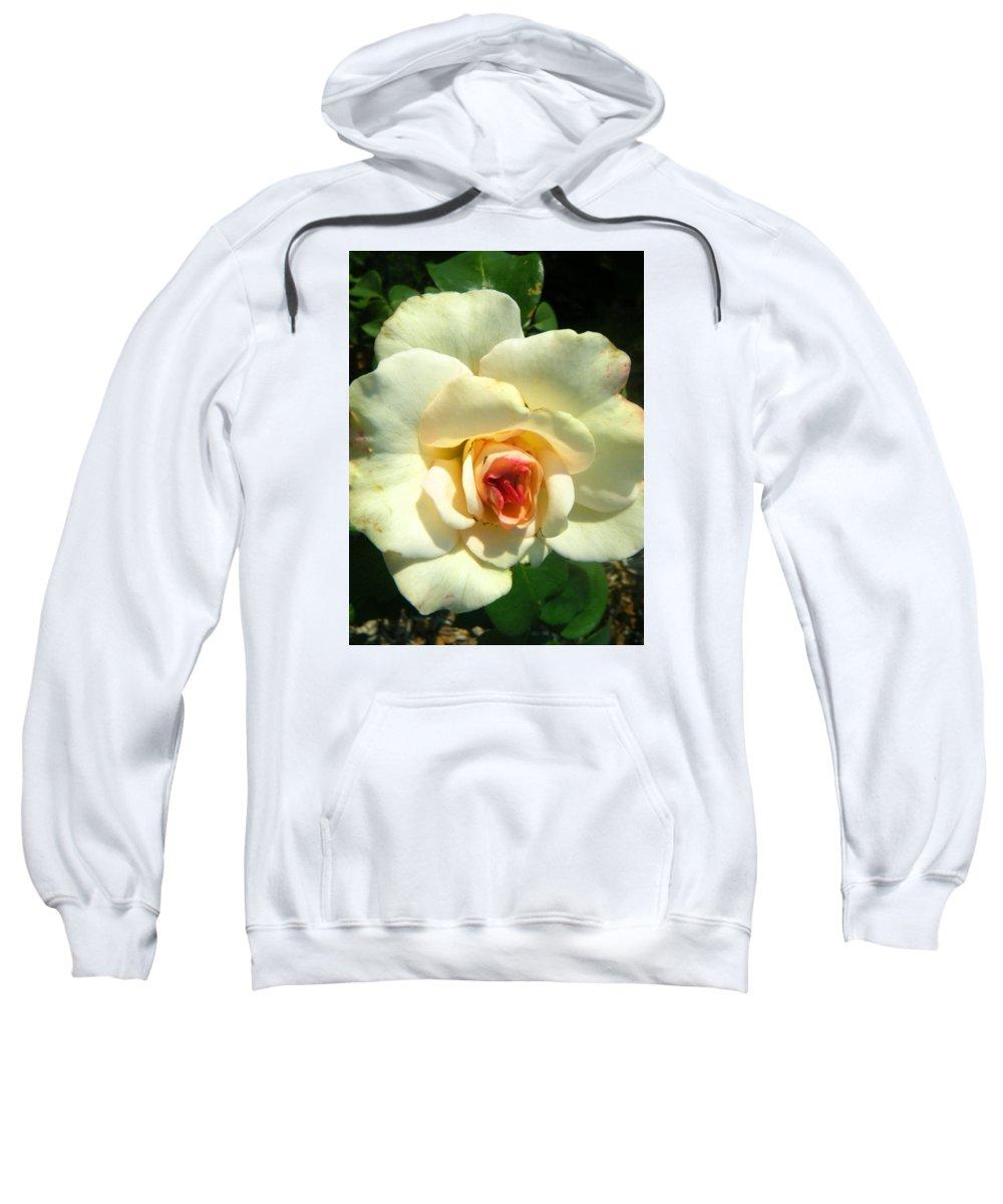 Landscapes Sweatshirt featuring the photograph Wonderland Rose by April Patterson