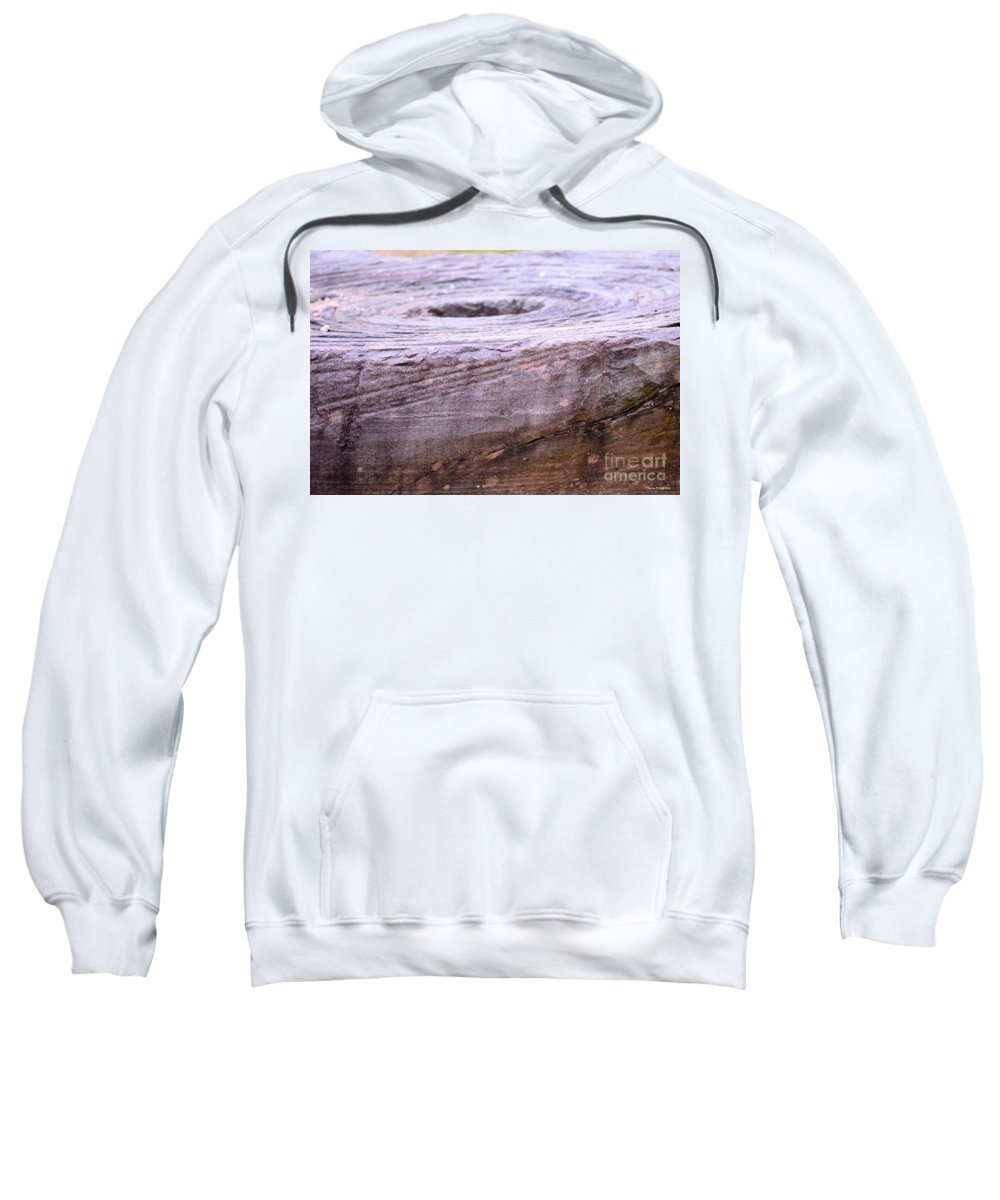 Wooden Ring Abstract Sweatshirt featuring the photograph Wooden Ring Abstract by Maria Urso