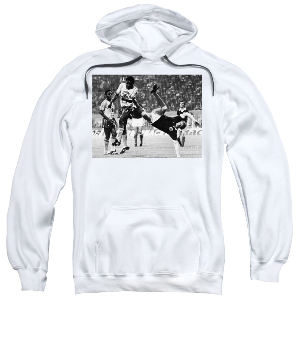 1974 Sweatshirt featuring the photograph World Cup, 1974 by Granger