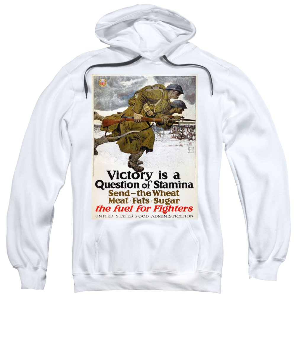 1917 Sweatshirt featuring the photograph World War I: Poster, 1917 by Granger