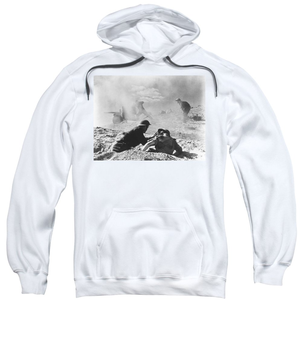 1942 Sweatshirt featuring the photograph World War II: North Africa by Granger