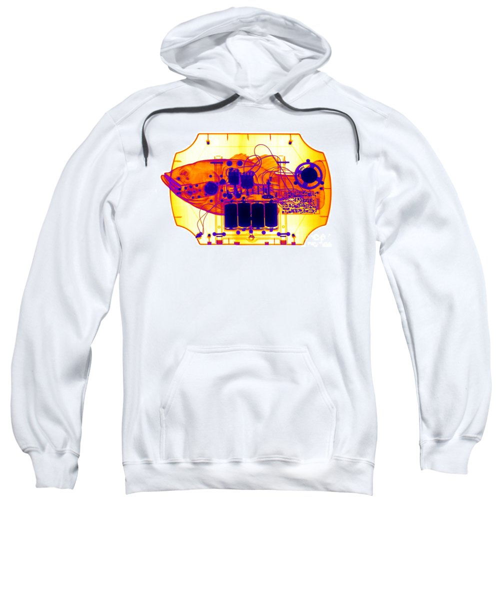 Xray Sweatshirt featuring the photograph X-ray Of Mechanical Fish by Ted Kinsman