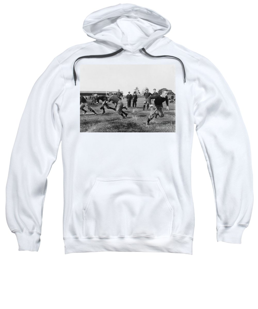 1910 Sweatshirt featuring the photograph Yale: Football Practice by Granger