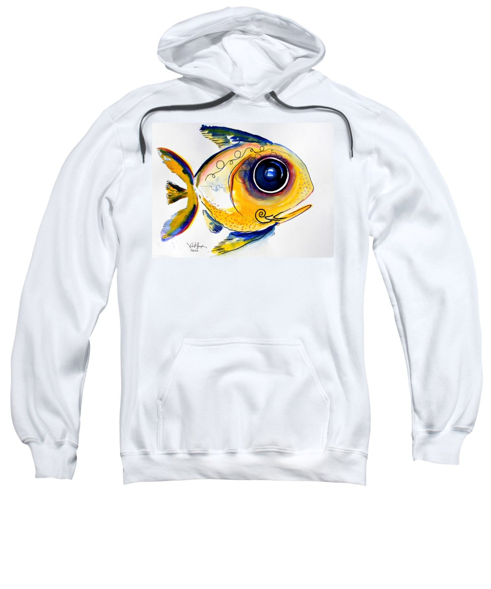 Fish Sweatshirt featuring the painting Yellow Study Fish by J Vincent Scarpace