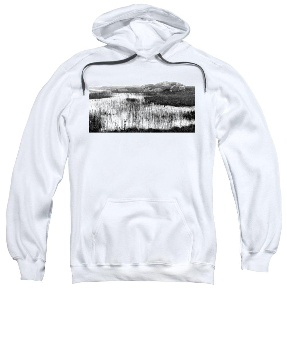 Bw Sweatshirt featuring the photograph Zen Pond In Ireland by David Resnikoff