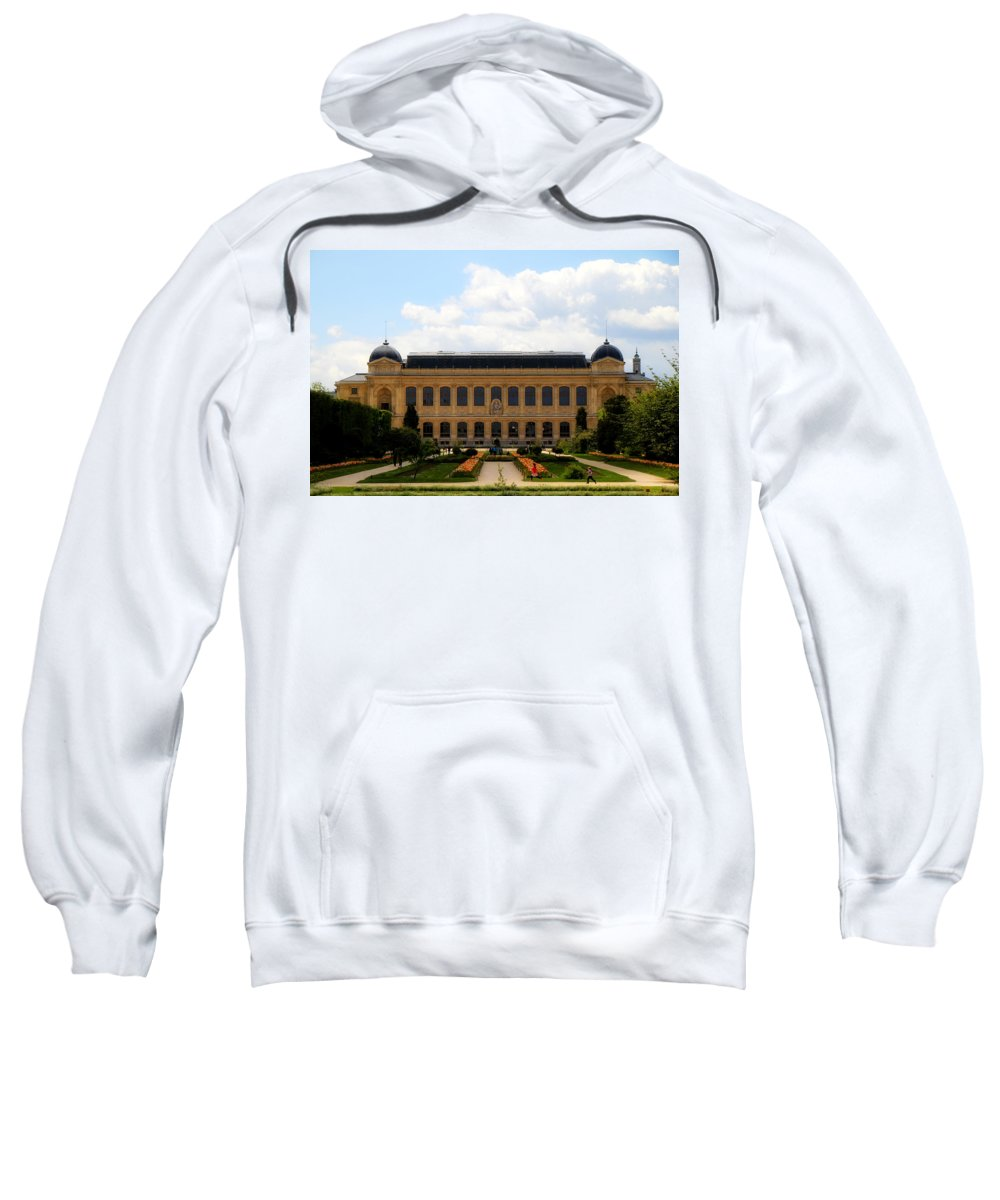 Paris Sweatshirt featuring the photograph Zoology Building Paris by Andrew Fare