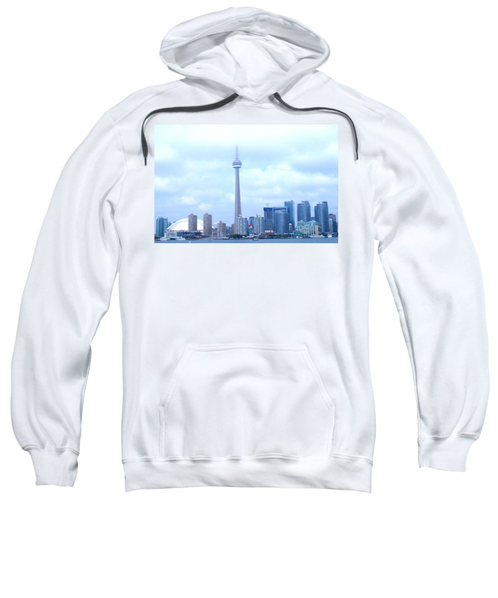 Toronto Sweatshirt featuring the photograph Lost In The Clouds by Ian MacDonald