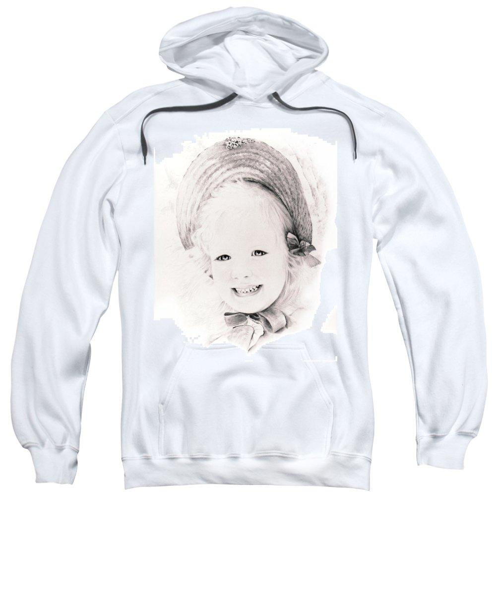 Portrait Sweatshirt featuring the drawing  Trudy by Rachel Christine Nowicki