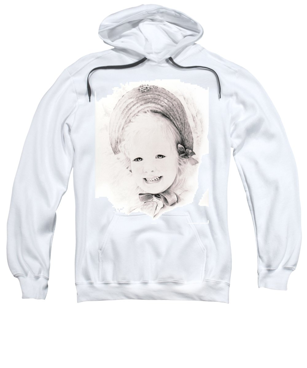Portrait Sweatshirt featuring the drawing  Trudy by Rachel Christine Nowicki