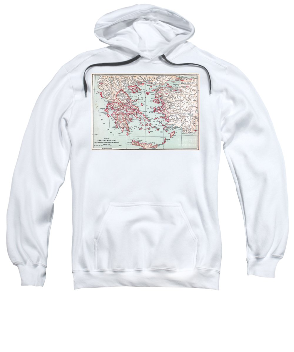 19th Century Sweatshirt featuring the painting Map: Ancient Greece by Granger