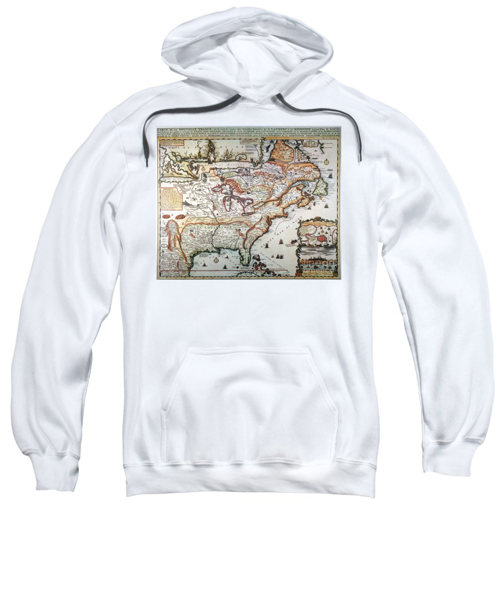 1719 Sweatshirt featuring the painting New France, 1719 by Granger