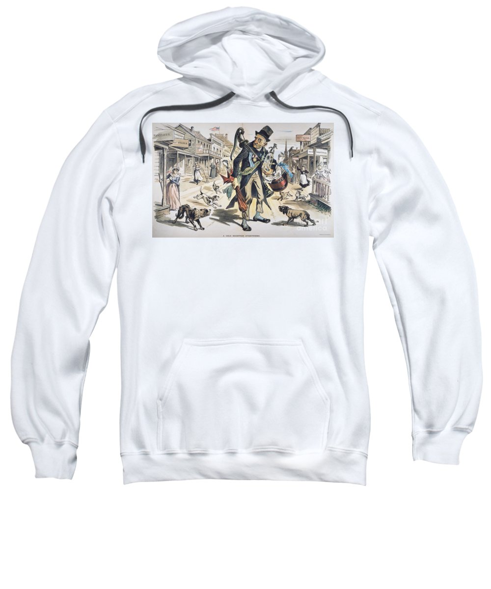 1889 Sweatshirt featuring the painting Prohibition Cartoon, 1889 by Granger