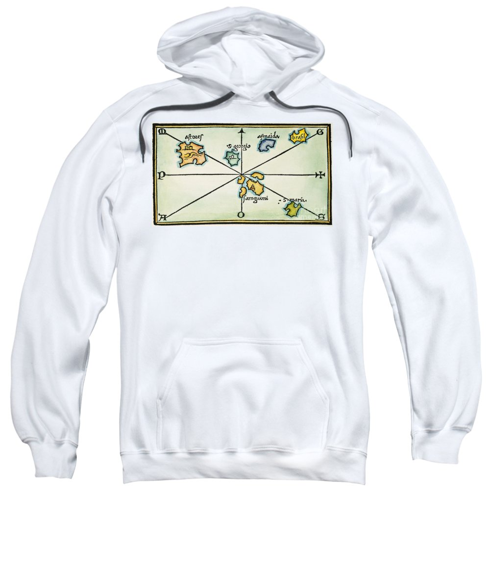 1528 Sweatshirt featuring the painting Azores, 1528 by Granger