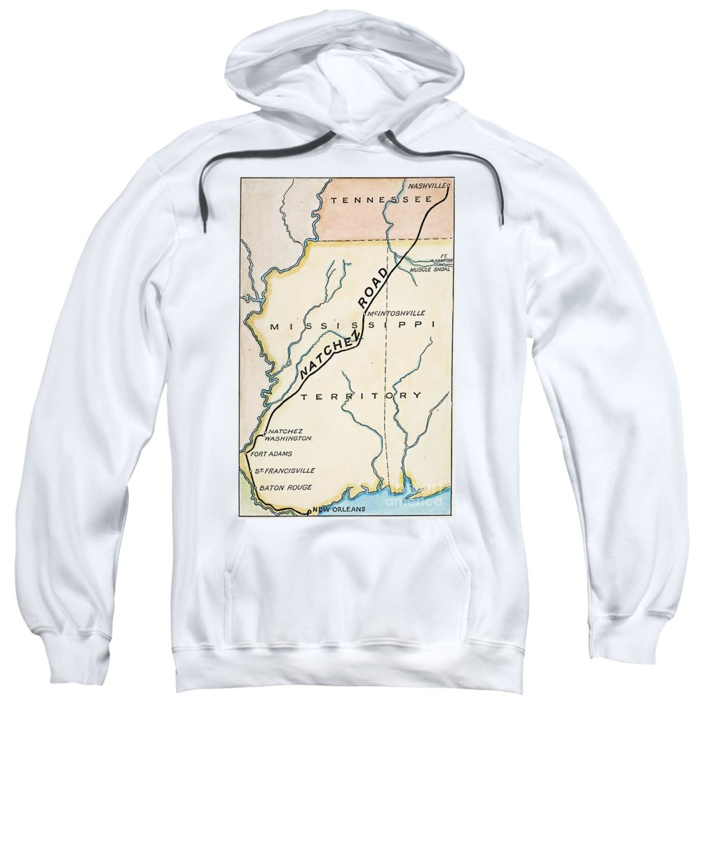 1816 Sweatshirt featuring the painting Natchez Trace, 1816 by Granger