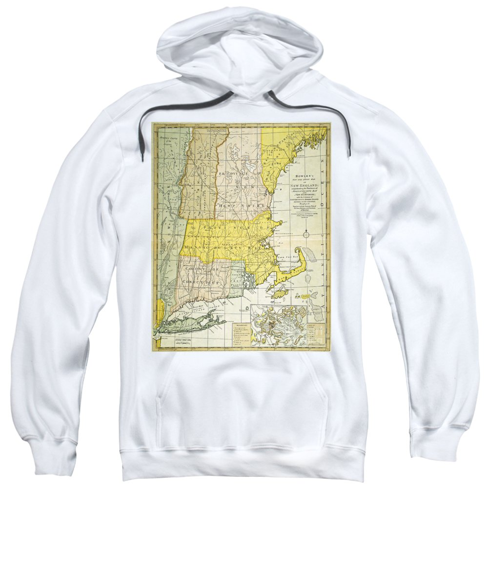 1775 Sweatshirt featuring the painting New England Map, C1775 by Granger
