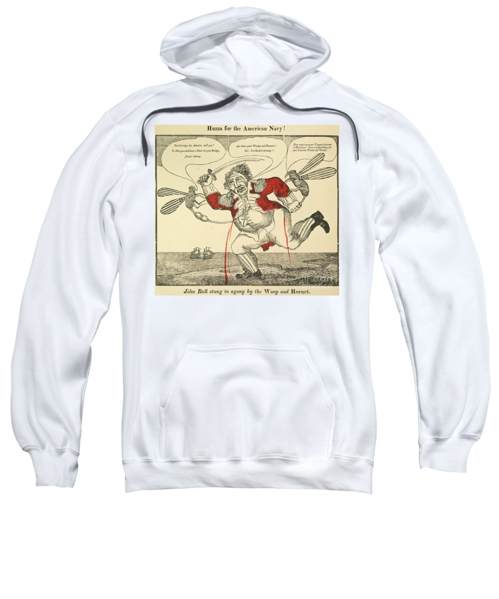 1813 Sweatshirt featuring the painting War Of 1812: Cartoon, 1813 by Granger