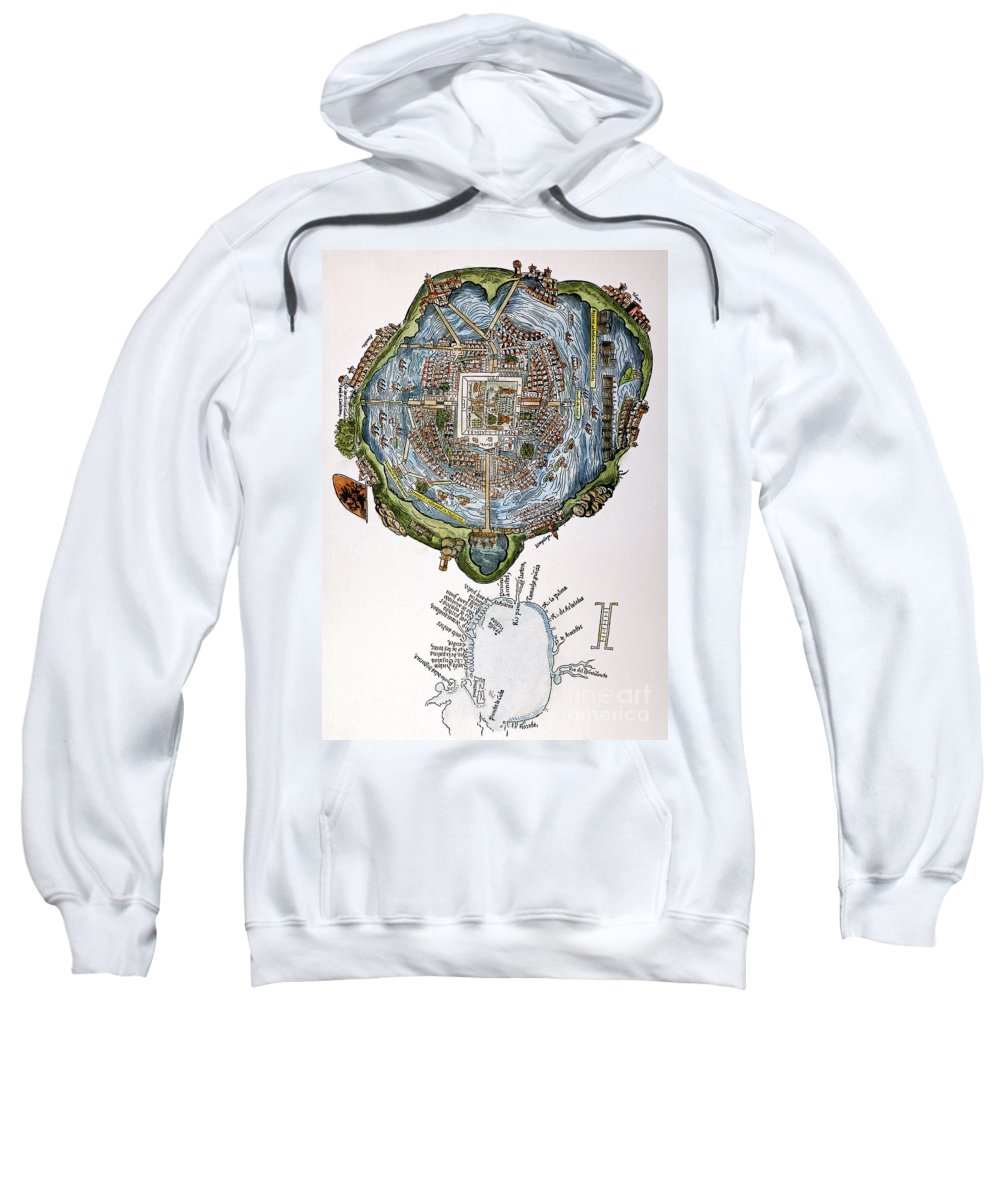 1524 Sweatshirt featuring the painting Tenochtitlan (mexico City) by Granger