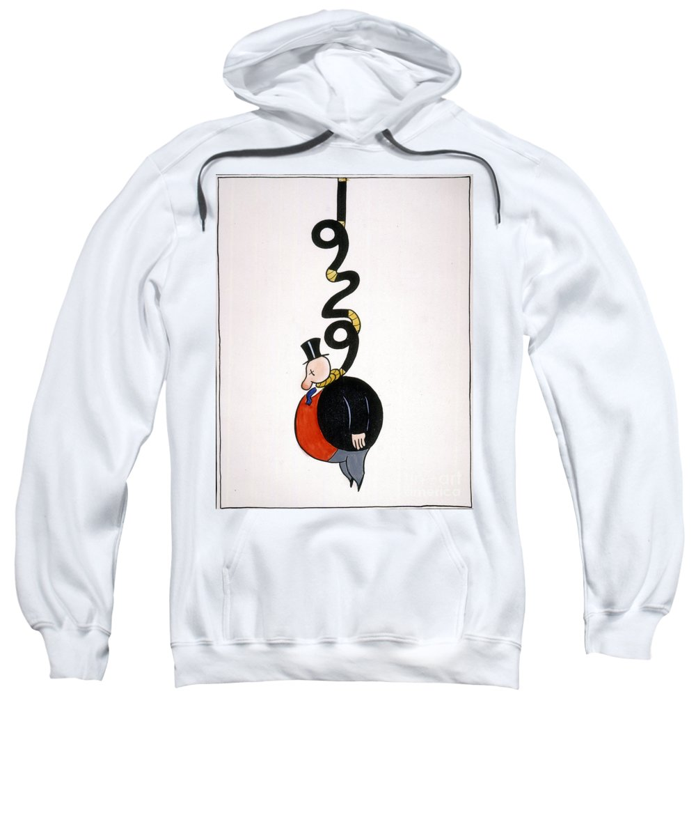 1929 Sweatshirt featuring the painting Depression Cartoon by Granger