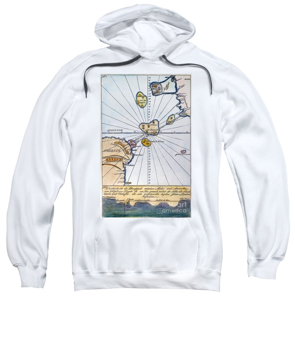 1785 Sweatshirt featuring the painting Traces Of Atlantis by Granger