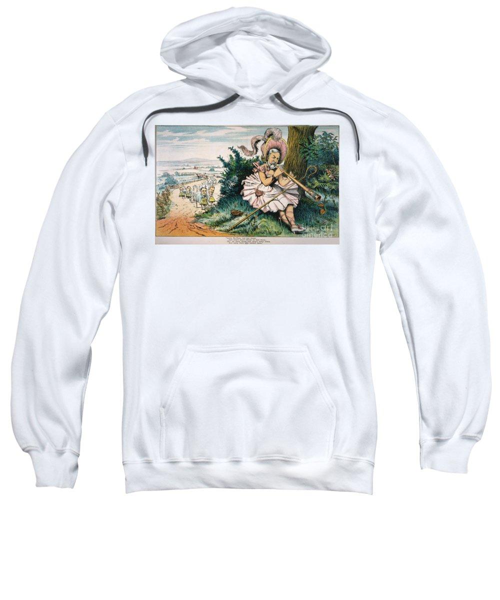 1884 Sweatshirt featuring the painting James Blaine Cartoon, 1884 by Granger