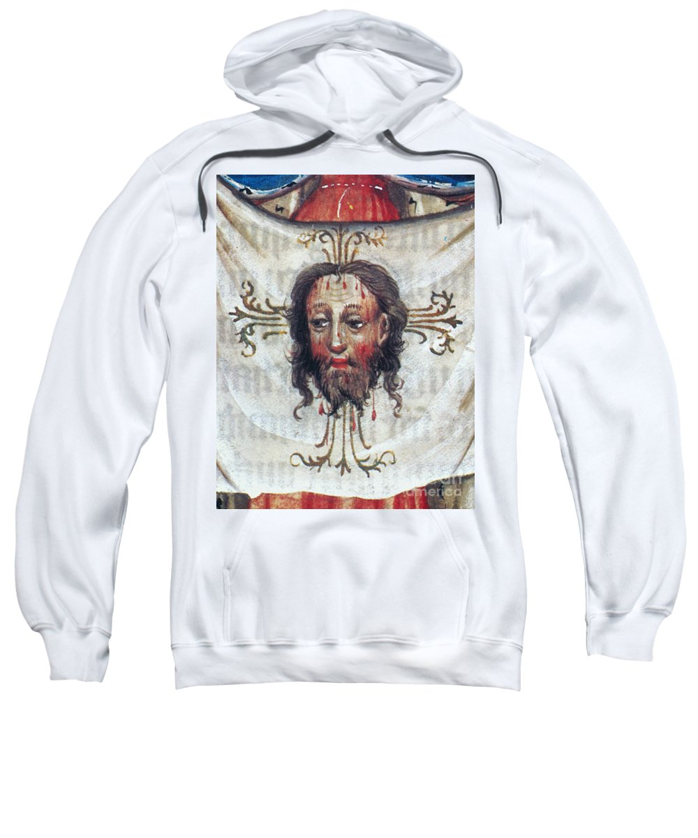 15th Century Sweatshirt featuring the painting Veronica's Veil by Granger