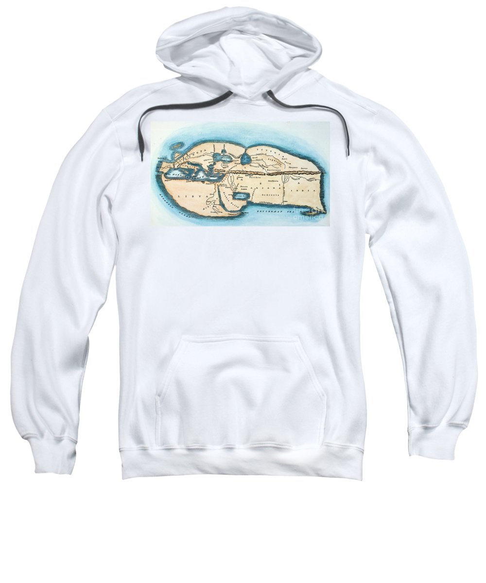 1st Century Sweatshirt featuring the painting Strabo World Map, C20 A.d by Granger