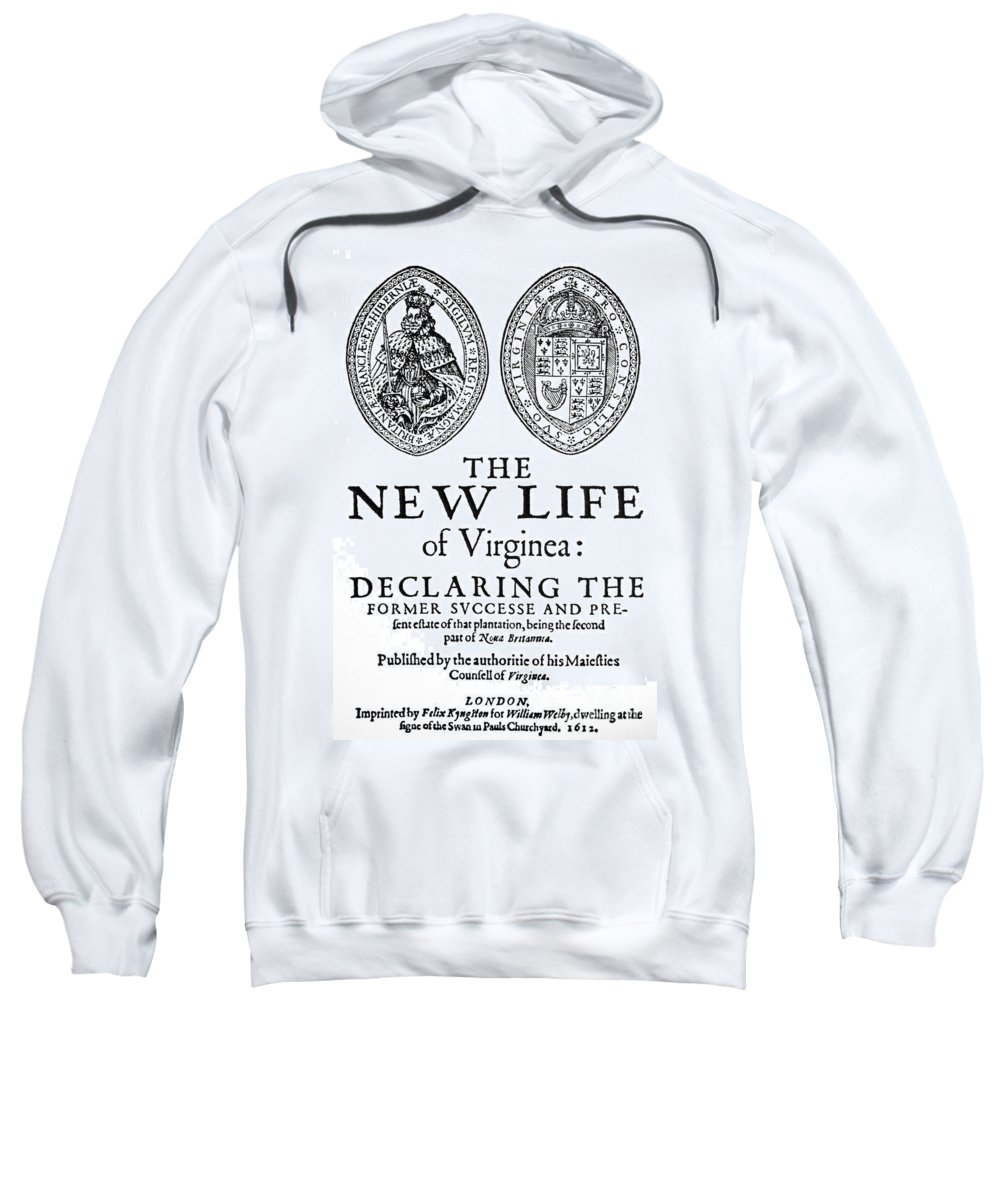 1612 Sweatshirt featuring the painting Virginia Tract, 1612 by Granger